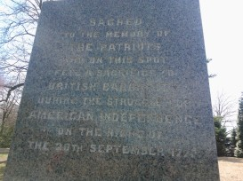 Paoli Massacre Monument